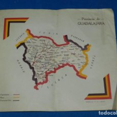 Militaria: (M) MAPA REPUBLICANO - PROVINCIA DE GUADALAJARA, EDT RIVADENEYRA, MADRID 28X24CM, REPUBLICA. Lote 207198618