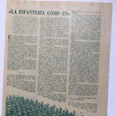 Militaria: ARTÍCULO INFANTERÍA (GÓMEZ ALBA, 1958) ABC ¡ORIGINAL! COLECCIONISTA. Lote 207432970