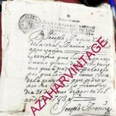 Militaria: 1783, CERTIFICADO EMITIDO POR CIRUJANO DE LA REAL MARINA, JOSEPH ASENCIO,. Lote 207552831