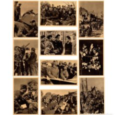 Militaria: DIVISIÓN AZUL. 10 POSTALES DE LA CRUZADA EUROPEA CONTRA EL BOLCHEVISMO. SERIE I. PERFECTO ESTADO.. Lote 208067763
