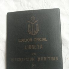 Militaria: LIBRETA DE INSCRIPCIÓN MARITIMA 1932. REPUBLICA ESPAÑOLA.MILITAR.EL FERROL. GALICIA.NACIONAL.MARINA.. Lote 208160731