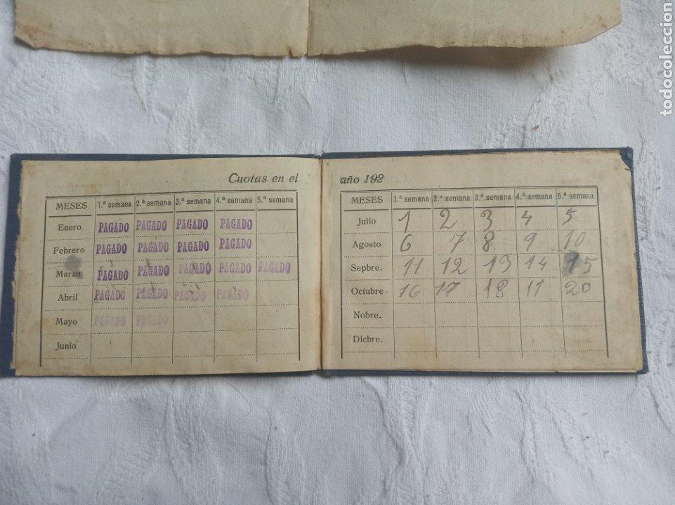 Militaria: Carnet sociedad obreros cargadores de Valencia 1924.sindicato.alfonso XIII.militar.trabajadores.sind - Foto 3 - 208161158