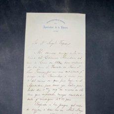 Militaria: APOSTADERO DE LA HABANA, 1880. INTERVENCION DE MARINA. CARTA A DON ANGEL TOPETE. VER. Lote 208350523