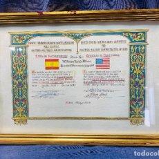 Militaria: EEUU RECONOCIMIENTO SERVICIOS SECRETARIO PERMANENTE TRATADO BERDEJO 1979 ORIGINAL FIRMA 34,5X48,5C. Lote 208945080