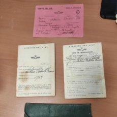 Militaria: CARTILLA MILITAR, HOJA MOVILIZACIÓN, TARJETA ESPECIALIDAD Y CARTERA EJERCITO DEL AIRE, AVIACION 1951. Lote 209297767