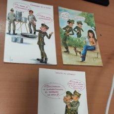Militaria: 3 ANTIGUAS POSTALES DE MILITARES. Lote 209298620
