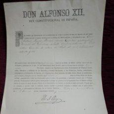 Militaria: ALFONSO XII. GRUZ DE PRIMERA. MERITO MILITAR 1889. FIRMA YO EL REY. Lote 210147613