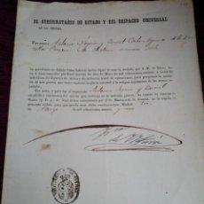 Militaria: RECONOCIMIENTO AL MERITO MILITAR. GERRA DE AFRCA. ALFONSO XII. 1861.. Lote 210147928