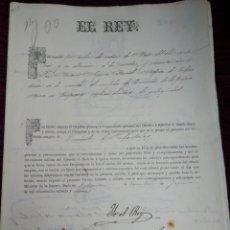 Militaria: NOMBRAMIENTO DE TENIENTE DE INFANTERIA. YO EL REY. ALFONSO XII 1877.. Lote 210148145