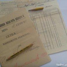Militaria: RGTO. INFANTERIA Nº 4: LOTE DE CARPETA EXPEDIENTE PERSONAL DE SOLDADO Y 2 DOCUMENTOS. ALICANTE, 1934. Lote 210149395