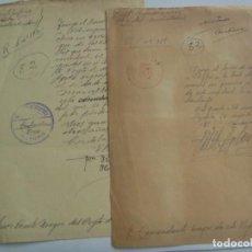 Militaria: RGTO. INFANTERIA Nº 45 - 1º BATALLON AMETRALLADORAS : LOTE DE 2 DOCUMENTO SOLDADO. CORDOBA, 1940. Lote 210162045