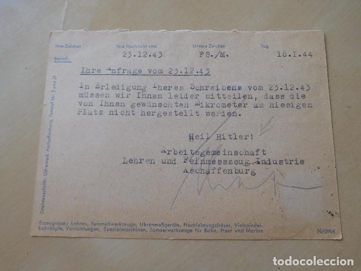 Militaria: Carta circulada alemana III Reich - Foto 2 - 210175886