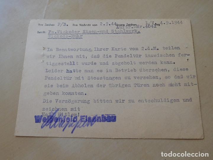 Militaria: Carta circulada alemana III Reich - Foto 2 - 210176142