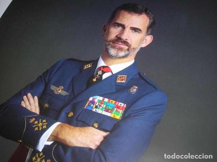 Militaria: RETRATO OFICIAL DE SU MAJESTAD EL REY FELIPE VI. CAPITAN GENERAL DEL EJERCITO DEL AIRE. GRAN TAMAÑO. - Foto 2 - 210753307