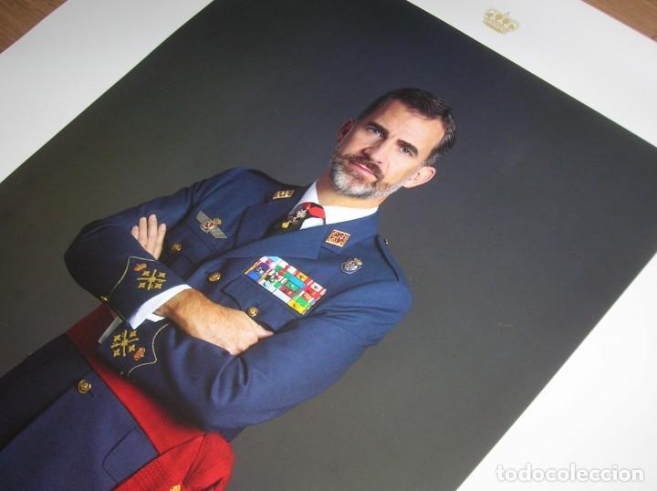 Militaria: RETRATO OFICIAL DE SU MAJESTAD EL REY FELIPE VI. CAPITAN GENERAL DEL EJERCITO DEL AIRE. GRAN TAMAÑO. - Foto 7 - 210753307