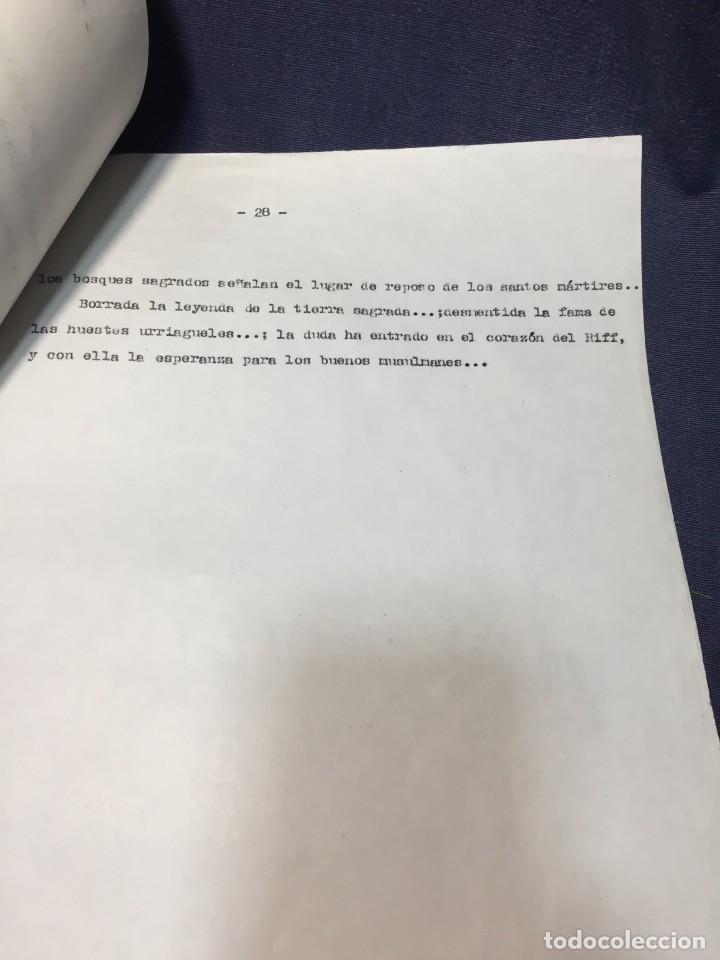 Militaria: documento francisco franco caudillo generalisimo de su mano diario alhucemas españa y sus heroes - Foto 5 - 212250058