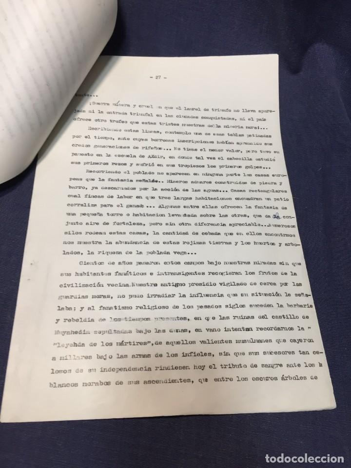 Militaria: documento francisco franco caudillo generalisimo de su mano diario alhucemas españa y sus heroes - Foto 6 - 212250058