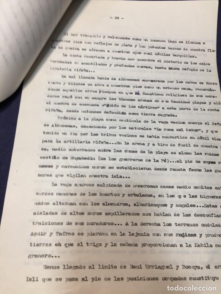 Militaria: documento francisco franco caudillo generalisimo de su mano diario alhucemas españa y sus heroes - Foto 7 - 212250058
