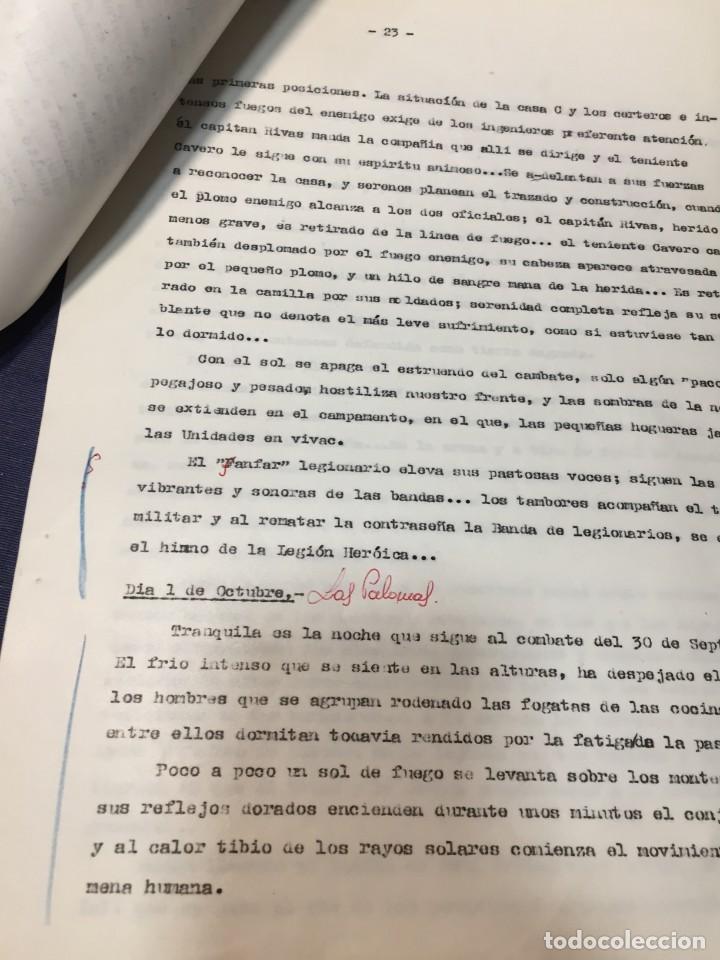 Militaria: documento francisco franco caudillo generalisimo de su mano diario alhucemas españa y sus heroes - Foto 8 - 212250058