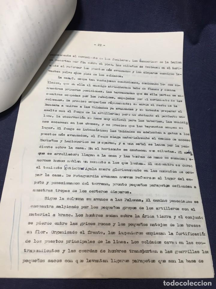 Militaria: documento francisco franco caudillo generalisimo de su mano diario alhucemas españa y sus heroes - Foto 9 - 212250058