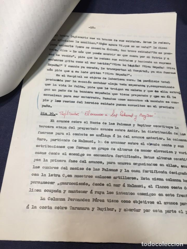 Militaria: documento francisco franco caudillo generalisimo de su mano diario alhucemas españa y sus heroes - Foto 10 - 212250058