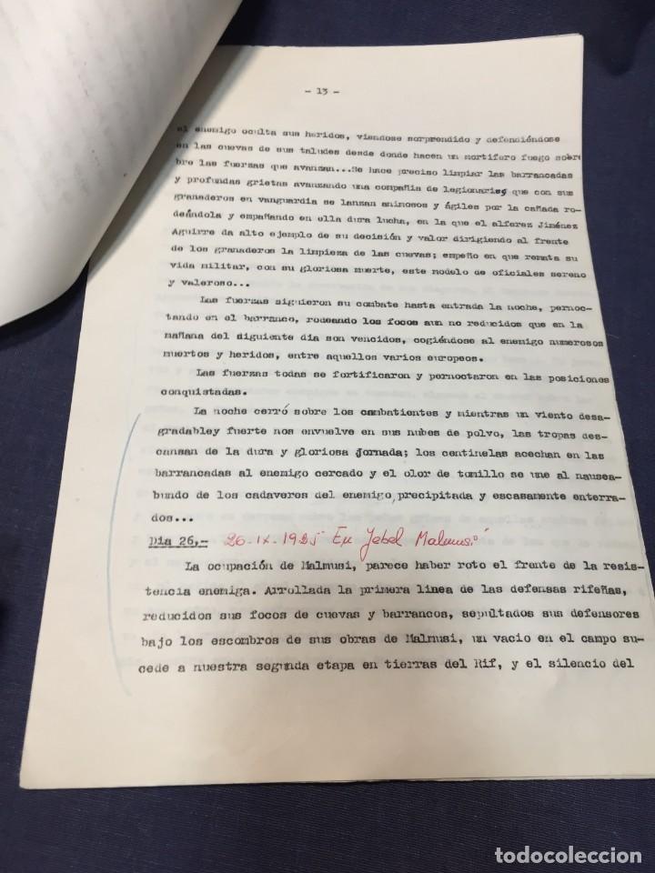 Militaria: documento francisco franco caudillo generalisimo de su mano diario alhucemas españa y sus heroes - Foto 11 - 212250058