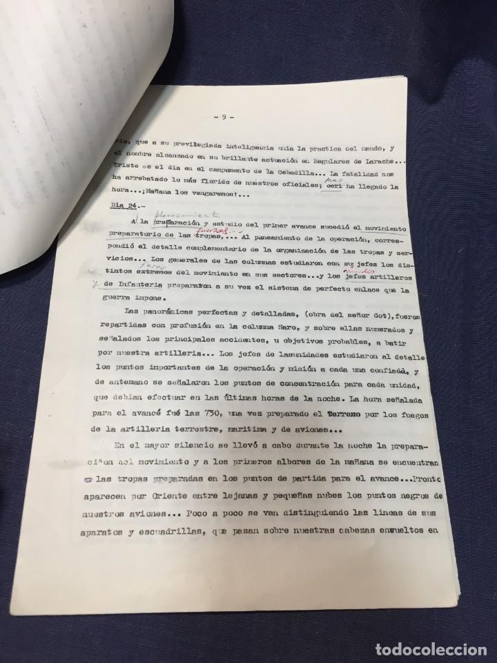 Militaria: documento francisco franco caudillo generalisimo de su mano diario alhucemas españa y sus heroes - Foto 12 - 212250058