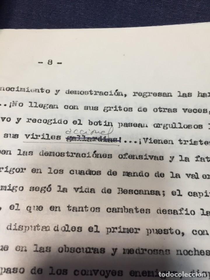 Militaria: documento francisco franco caudillo generalisimo de su mano diario alhucemas españa y sus heroes - Foto 13 - 212250058