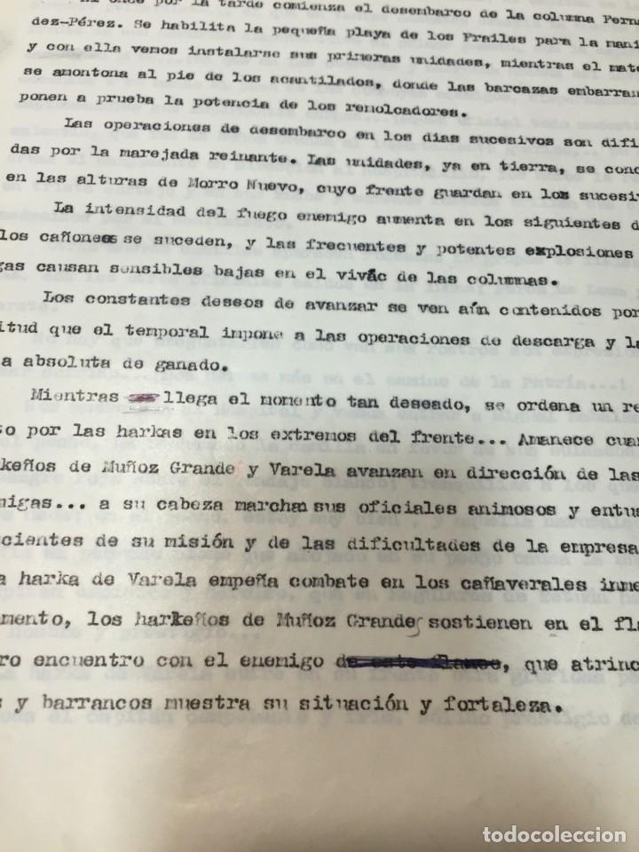 Militaria: documento francisco franco caudillo generalisimo de su mano diario alhucemas españa y sus heroes - Foto 14 - 212250058