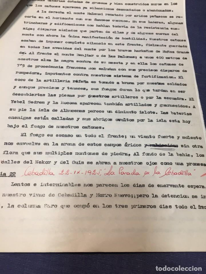 Militaria: documento francisco franco caudillo generalisimo de su mano diario alhucemas españa y sus heroes - Foto 15 - 212250058