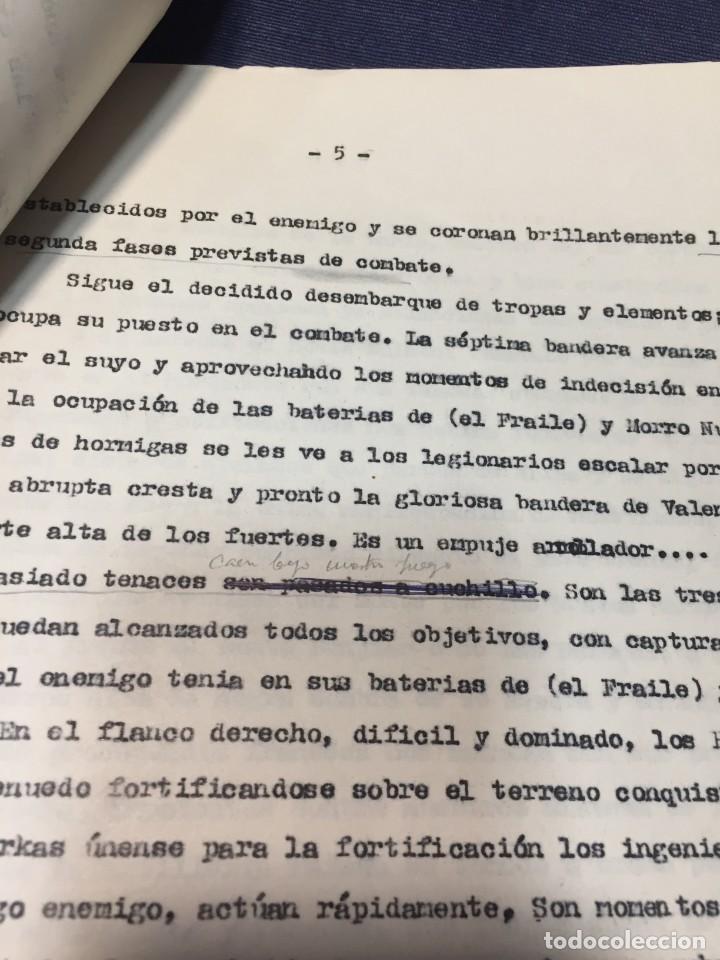 Militaria: documento francisco franco caudillo generalisimo de su mano diario alhucemas españa y sus heroes - Foto 16 - 212250058