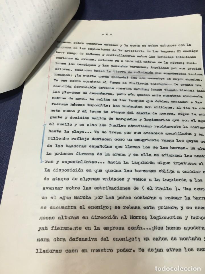 Militaria: documento francisco franco caudillo generalisimo de su mano diario alhucemas españa y sus heroes - Foto 17 - 212250058