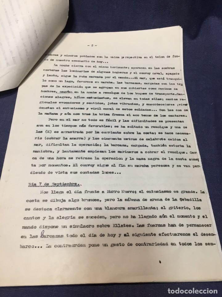 Militaria: documento francisco franco caudillo generalisimo de su mano diario alhucemas españa y sus heroes - Foto 18 - 212250058
