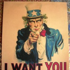 Militaria: CARTEL POSTER RETRO - I WANT YOU FOR US ARMY. RECLUTAMIENTO USA - GUERRA MUNDIAL ( I Y II). Lote 294573013