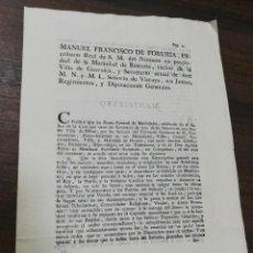 Militaria: VIZCAYA. GUERRA DE LOS FRANCESES. 1793. LEER.. Lote 212975112