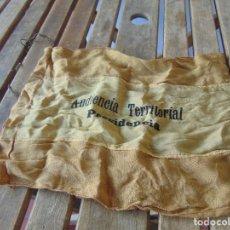 Militaria: ANTIGUA BANDERA ,BANDERÍN, GUION PARA COCHE O OFICINA AUDIENCIA TERRITORIAL PRESIDENCIA. Lote 213642275