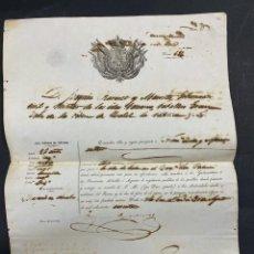 Militaria: ISLAS CANARIAS. GOBERNADOR CIVIL Y MILITAR. PASAPORTE PARA LA ISLA DE CUBA. SELLO EN SECO. 1860. Lote 213759191