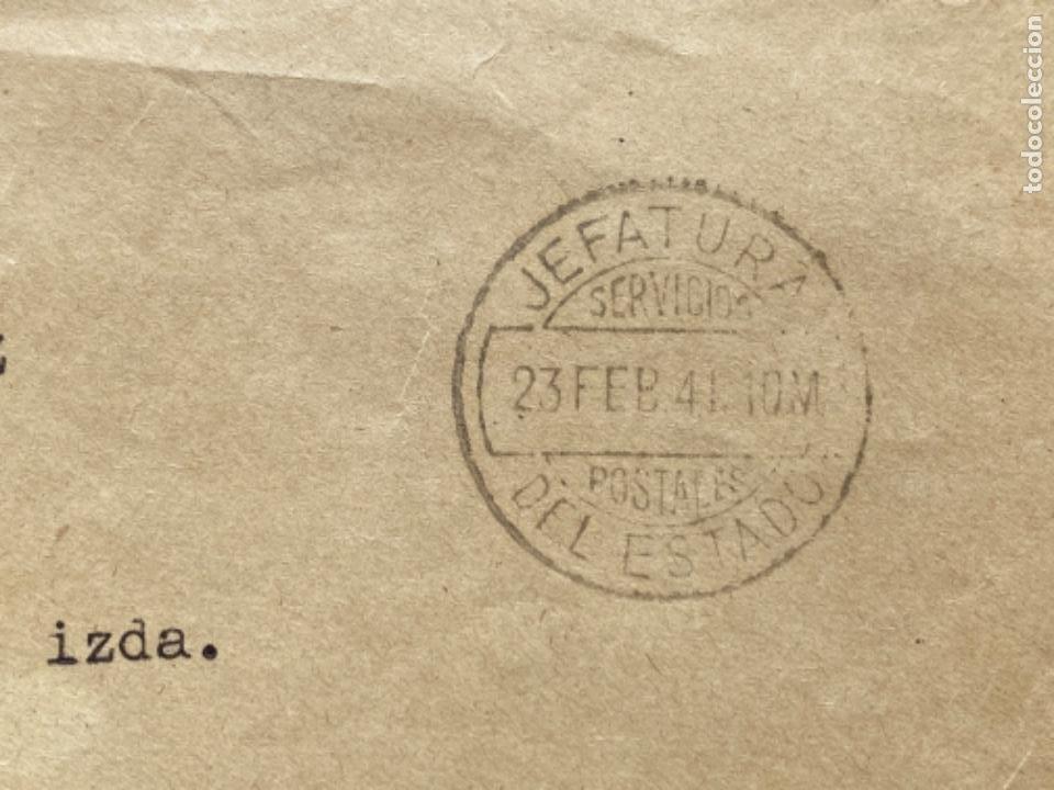 Militaria: Sobre oficial secretaria señora del jefe del estado y generalisimo de los ejercitos 1941 - Foto 5 - 213877698