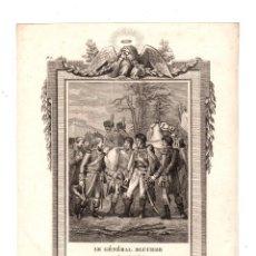 Militaria: GRABADO LE GÉNÉRAL BLUCHER SE REND PAR CAPITULATION. 1807. Lote 213879500