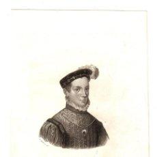 Militaria: GRABADO PRINCIPE DON CARLOS DE AUSTRIA. C. 1850. ALABERN. Lote 213879777
