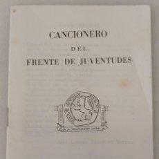 Militaria: CANCIONERO DEL FRENTE DE JUVENTUDES. FALANGE - ES. DONCEL. MADRID 1963. Lote 213911757
