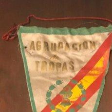 Militaria: ANTIGUA BANDERÍN DE LA AGRUPACIÓN DE TROPAS FARMACIA MILITAR, MITAD SIGLO XX. Lote 214065422
