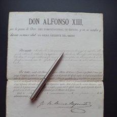 Militaria: ASCENSO A COMANDANTE. 1894. REGENCIA MARÍA CRISTINA. VER MÁS ARTÍCULOS DE ÉSTE MILITAR. Lote 214236702