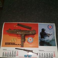 Militaria: 1.HOJA CALENDARIO ARMAS STAR. 1987. Lote 214508205
