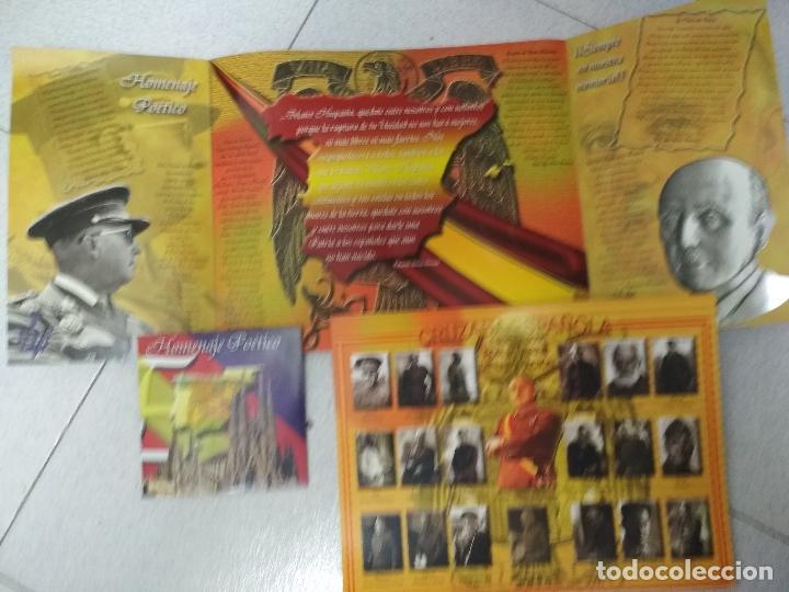 Militaria: FRANCISCO FRANCO. Loteria 2005. Lámina + triptico + CD - Foto 2 - 215358901