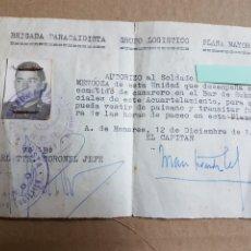 Militaria: DOCUMENTO BRIGADA PARACAIDISTA 1969 PARA CIRCULAR DE PAISANO ALCALA DE HENARES. Lote 215370556