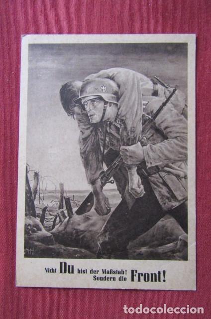 ANTIGUO ENTERO POSTAL TARJETA POSTAL ALEMANA III REICH ALEMÁN II SEGUNDA GUERRA MUNDIAL AÑO 1943 (Militar - Propaganda y Documentos)