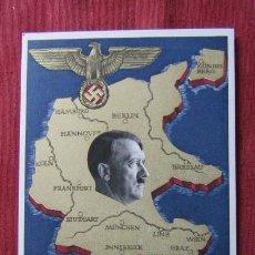 Militaria: ANTIGUO ENTERO TARJETA POSTAL ALEMANA III REICH ALEMÁN UNIFICACIÓN DE AUSTRIA CON ALEMANIA AÑO 1938. Lote 215943726