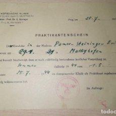 Militaria: DOCUMENTO ALEMAN, AÑO 1944, EPOCA III REICH. Lote 216708337
