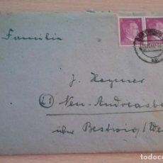 Militaria: FELDPOST-CARTA ALEMANA, SELLOS ADOLF HITLER.AÑO 1943, EPOCA III REICH. Lote 216709862